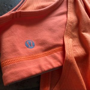 lululemon athletica Tops - Orange Lululemon No Limits Tank Top